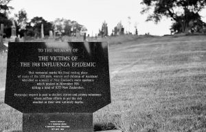 the victims of the flu epidemic memorial marker
