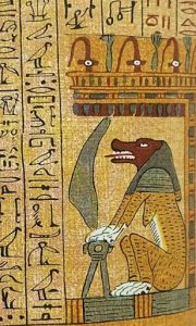 Papyrus of Demon from Egypt