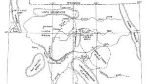 Uinta Basin structural map