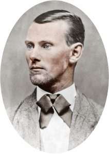 a painting of outlaw jesse james