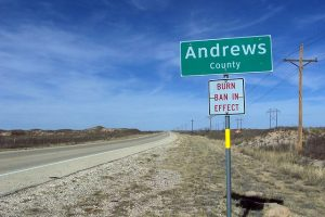 Andrews County Road Sign