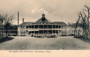 Old photo of the Hot Wells Hotel